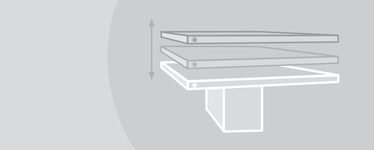 Sueggiu tavolo regolabile