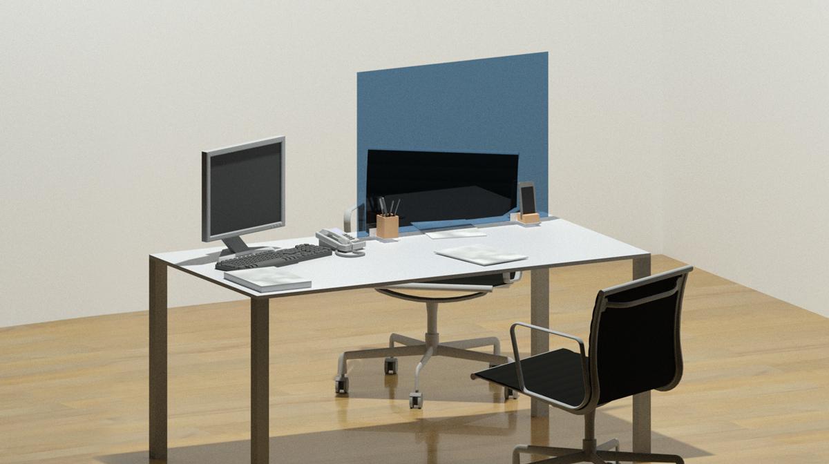 Divisori in vetro temperato protezione covid-19 per uffici